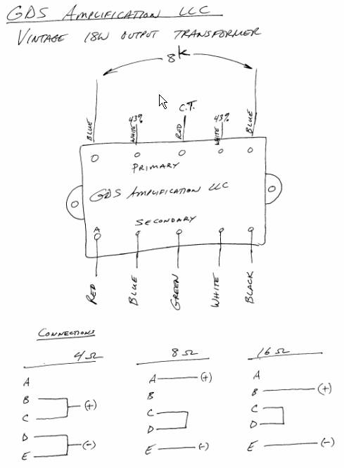 output transformer wiring diagram